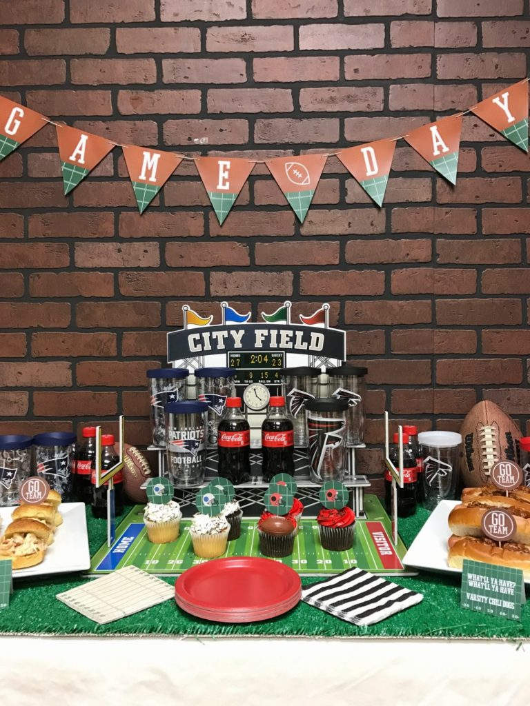 game day  football party free printables on everyday