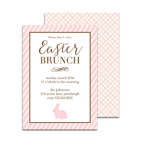 easter brunch with bunny printable personalized invitation