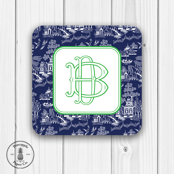 Chinoiserie Monogram Coaster