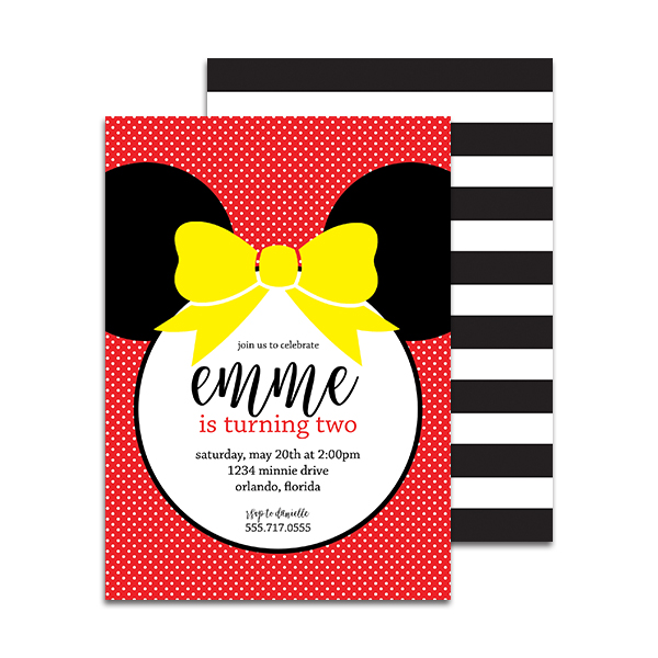 Minnie mouse birthday party personalized invitation pineapple minnie mouse birthday party personalized invitation filmwisefo