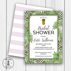 Tropical Bridal Shower Invite