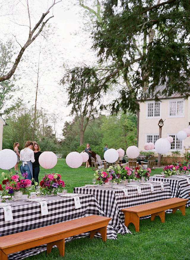Entertaining with Gingham Decor