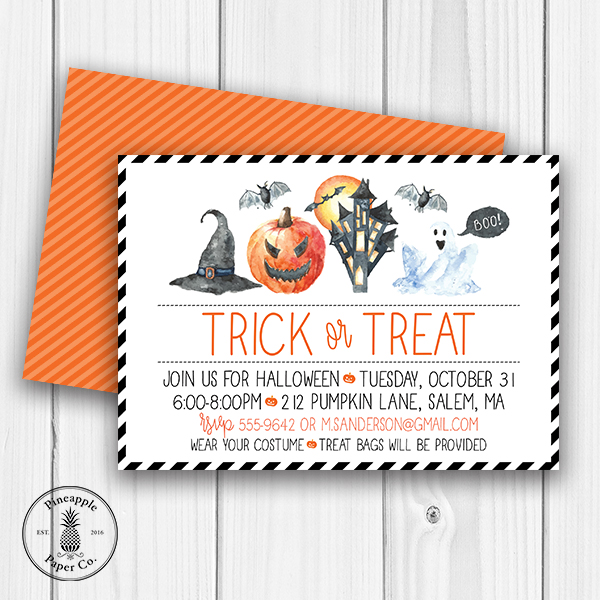 Trick or Treat Halloween Invite