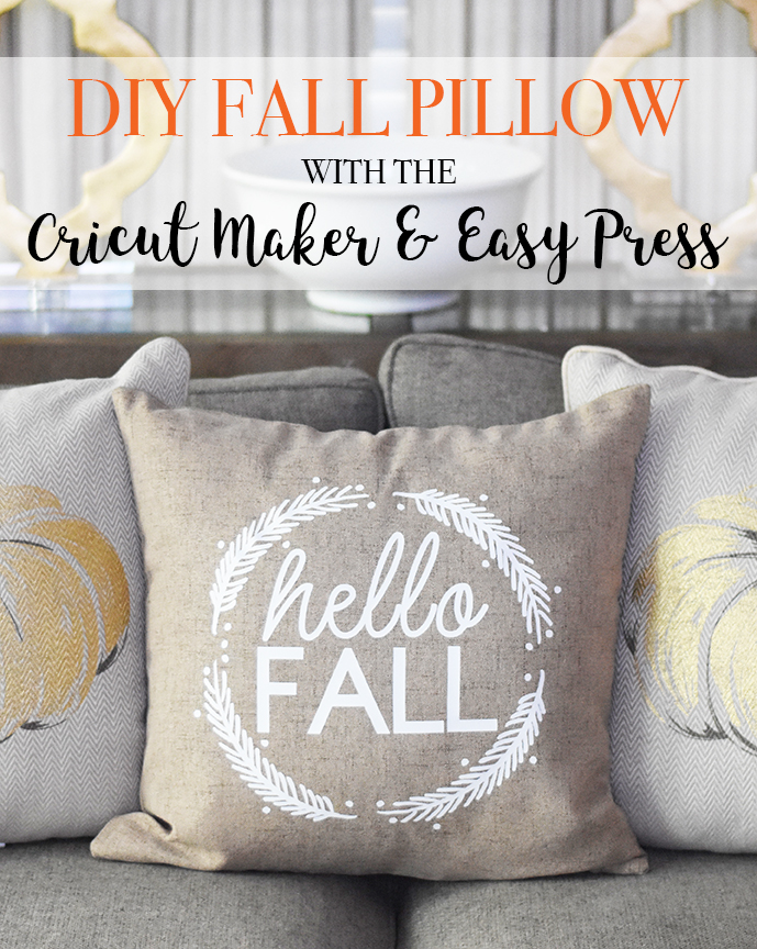 DIY Fall Pillow with Cricut