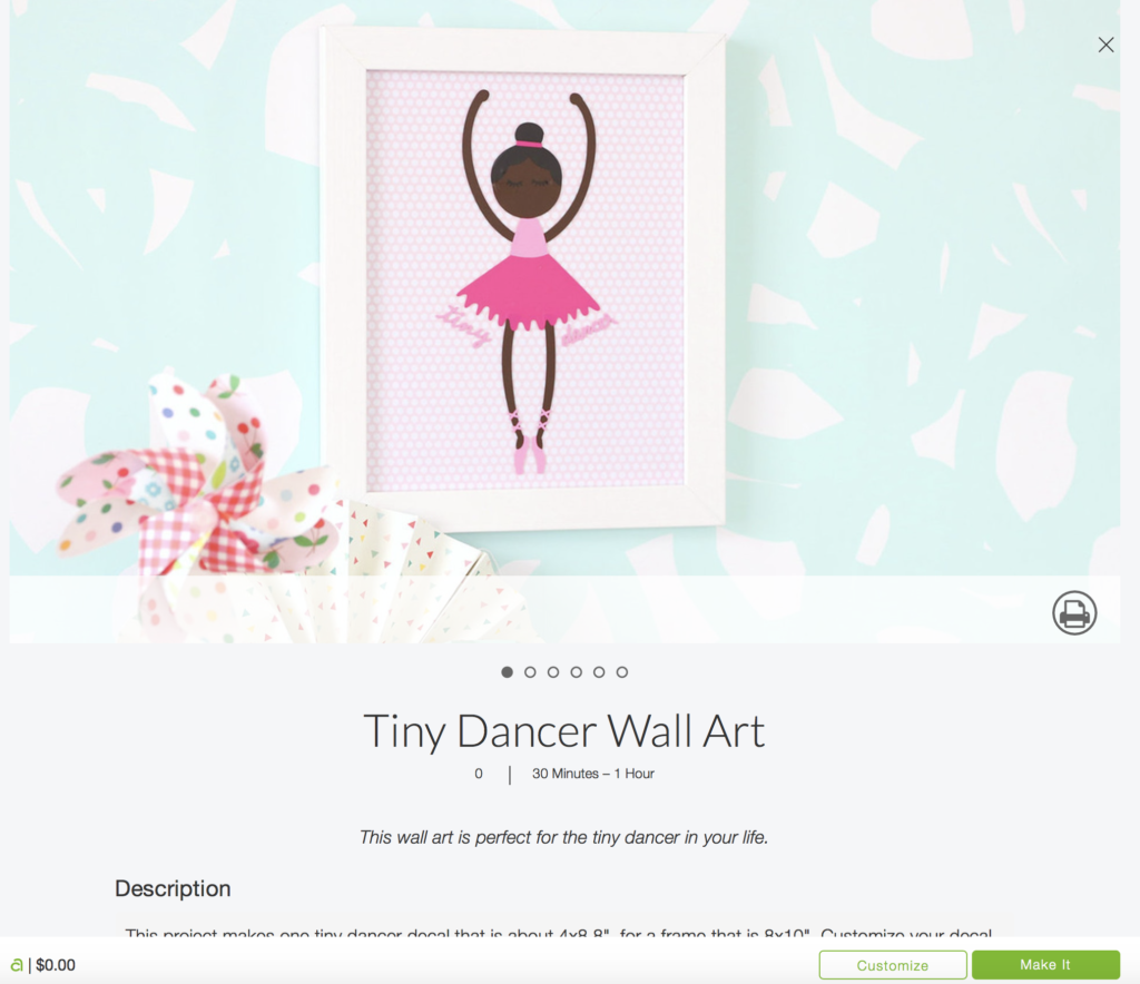 Tiny Dancer Wall Art Free With The Cricut Maker