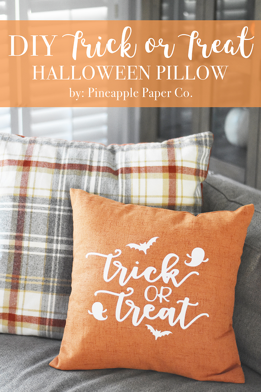 Diy Trick Or Treat Halloween Pillow Pineapple Paper Co