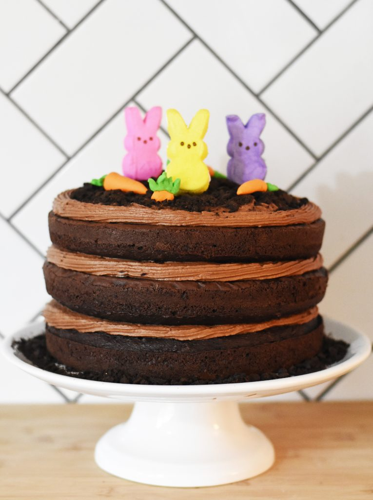 Peeps Chocolate Cake by Pineapple Paper Co.