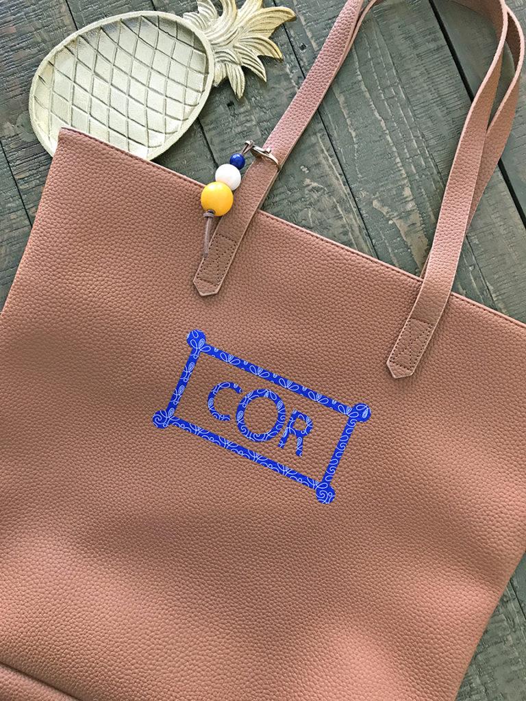 DIY Monogrammed Leather Tote Bag