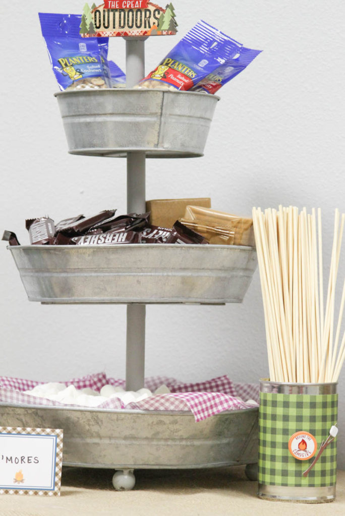 Camping Birthday Party Ideas by Everyday Party Magazine