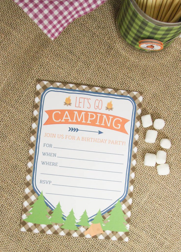 Camping Birthday Party Camping Party Invitation Camping Party Ideas