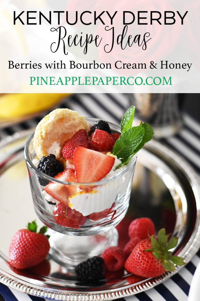 Kentucky derby party ideas berries and cream kentucky derby recipe berries with bourbon cream and honey kentucky derby recipe forumfinder Image collections