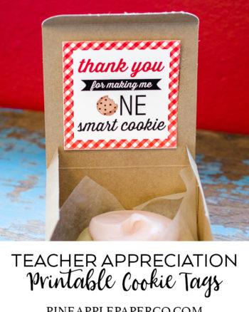 Teacher Appreciation Tags – Free Printables