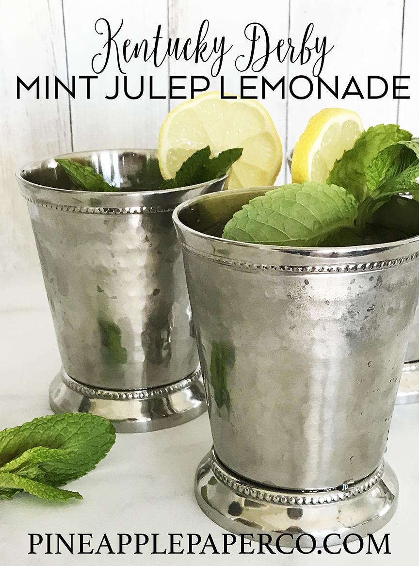 Mint Julep Lemonade Recipe – Kentucky Derby Party Ideas