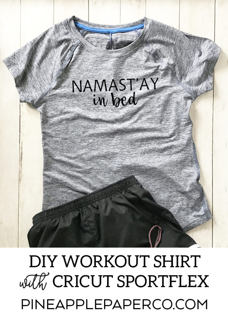 DIY Workout Shirt with Cricut SportFlex and Cricut Maker