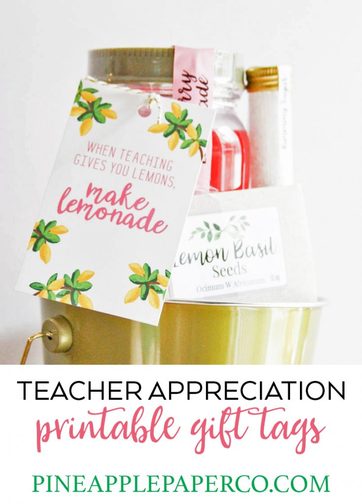 Teacher appreciation gift thank you teacher teacher appreciation everyday party magazine found this cute little gift basket at target that makes this teacher appreciation gift really easy but these printable tags make it negle Image collections
