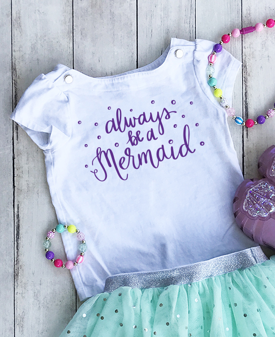 Always be a Mermaid Birthday Outfit by Pineapple Paper Co.