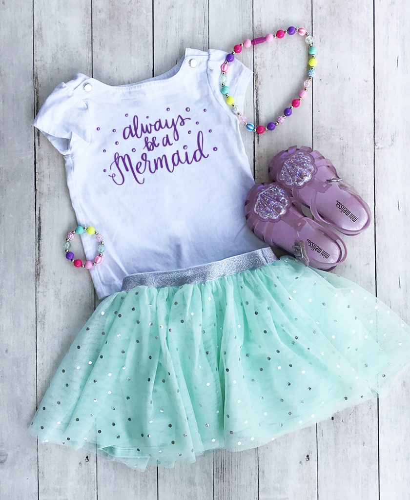 Always be a Mermaid Birthday Outfit with tutu by Pineapple Paper Co.