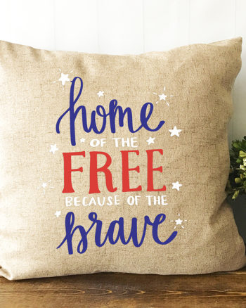 Home of the Free Because of the Brave SVG Now Available