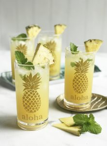 DIY Pineapple Cocktail Glasses with Cricut Premium Vinyl