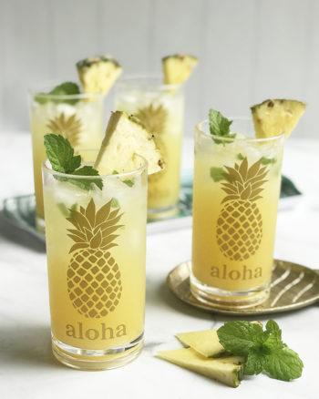 DIY Pineapple Cocktail Glasses with Cricut Premium Vinyl