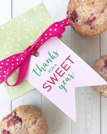 FREE Printable Teacher Gift Tag – Thanks for a SWEET Year