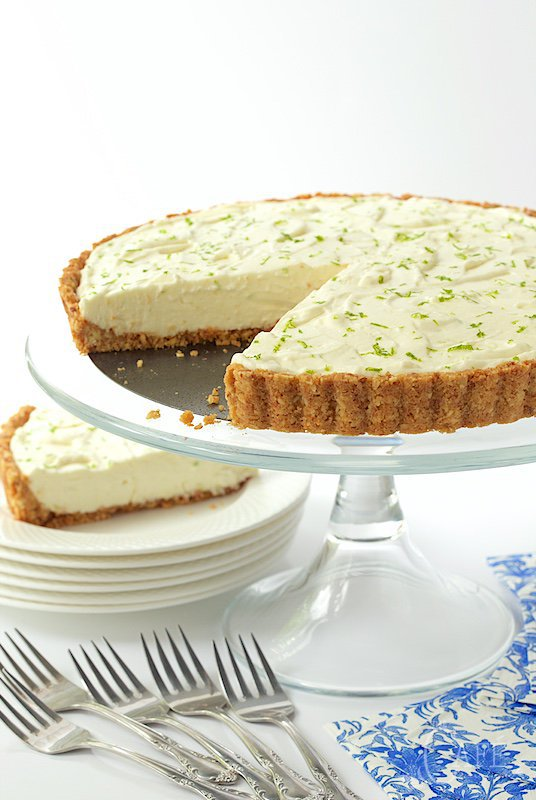 Key Lime Crunch Tart by the Cafe Sucre Farine