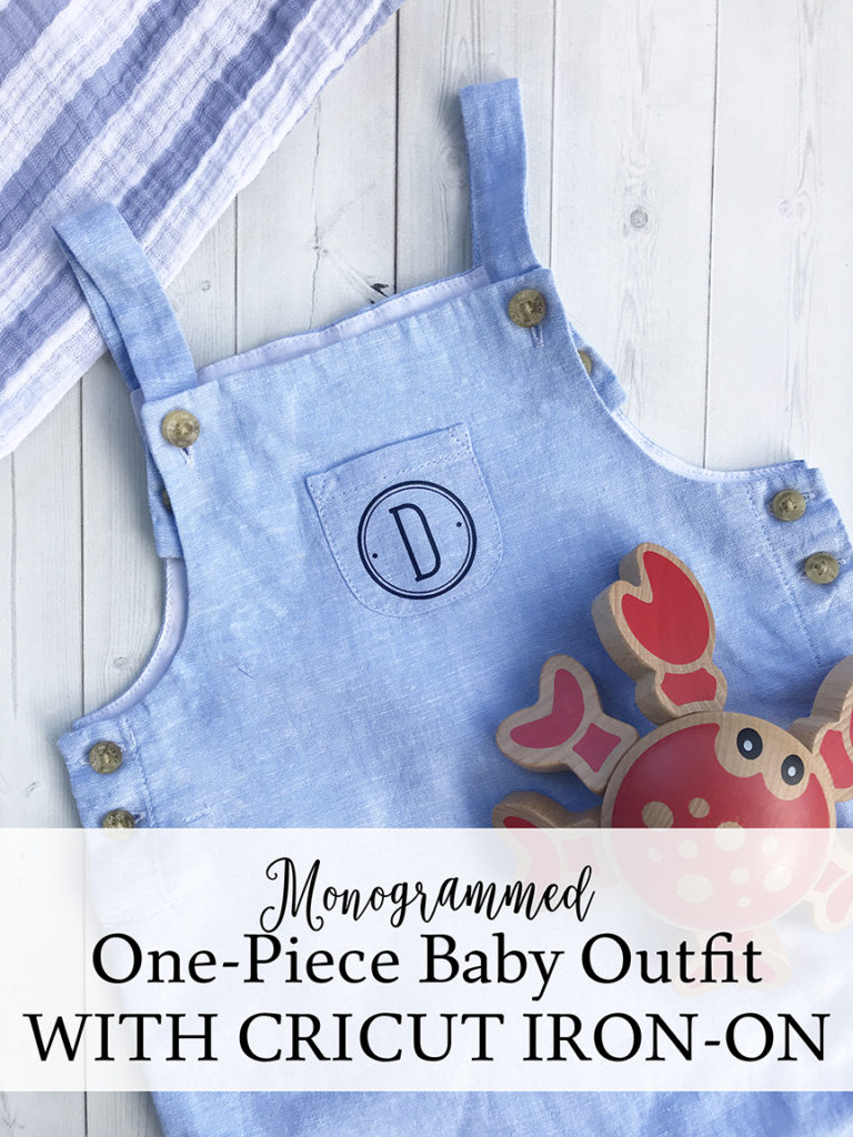 Monogrammed Baby Outfit with Cricut Iron-On - Pineapple Paper Co.