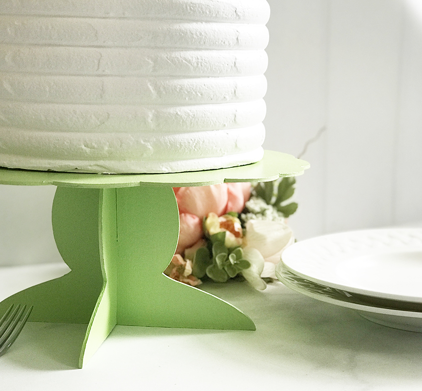 DIY Cake Stand made with the Cricut Maker by Pineapple Paper Co.