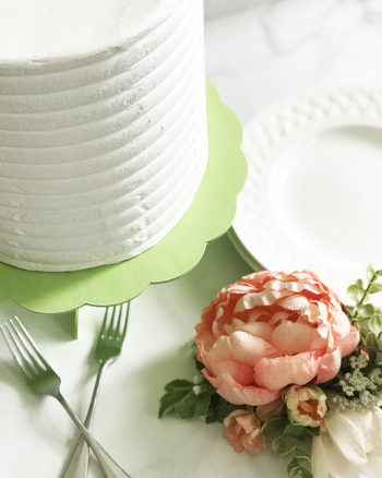 DIY Cake Stand with Cake