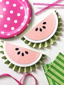 DIY Watermelon Banner using the Cricut Scoring Wheel