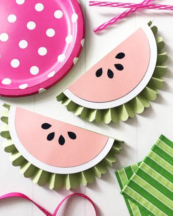 DIY Watermelon Banner using the Cricut Scoring Wheel