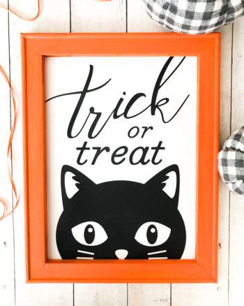 DIY Halloween Reverse Canvas with Cricut TrueControl Knife and Martha Stewart Explore Air 2