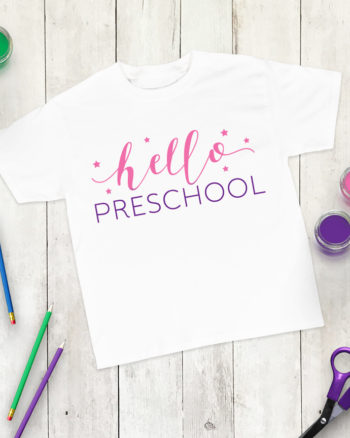 Free Preschool SVG Cut File – First Day of Preschool Shirt