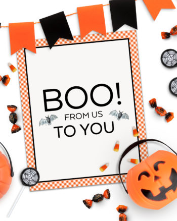 Boo to You Free Halloween Printable Decoration by Pineapple Paper Co.