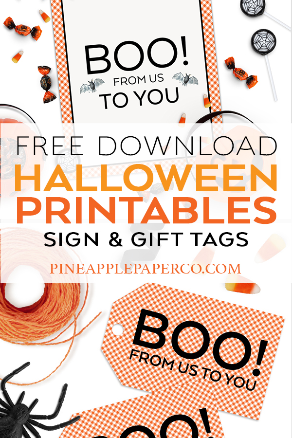 FREE Halloween Printables from Pineapple Paper Co.