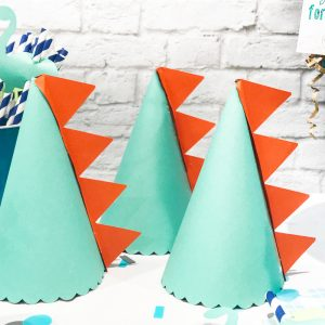 How to Make DIY Dinosaur Party Hats
