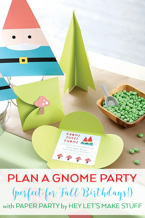 Plan a Gnome Fall Birthday Party - Paper Party Book