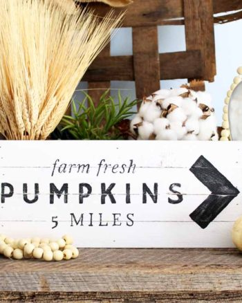 DIY Farmhouse Pumpkin Sign