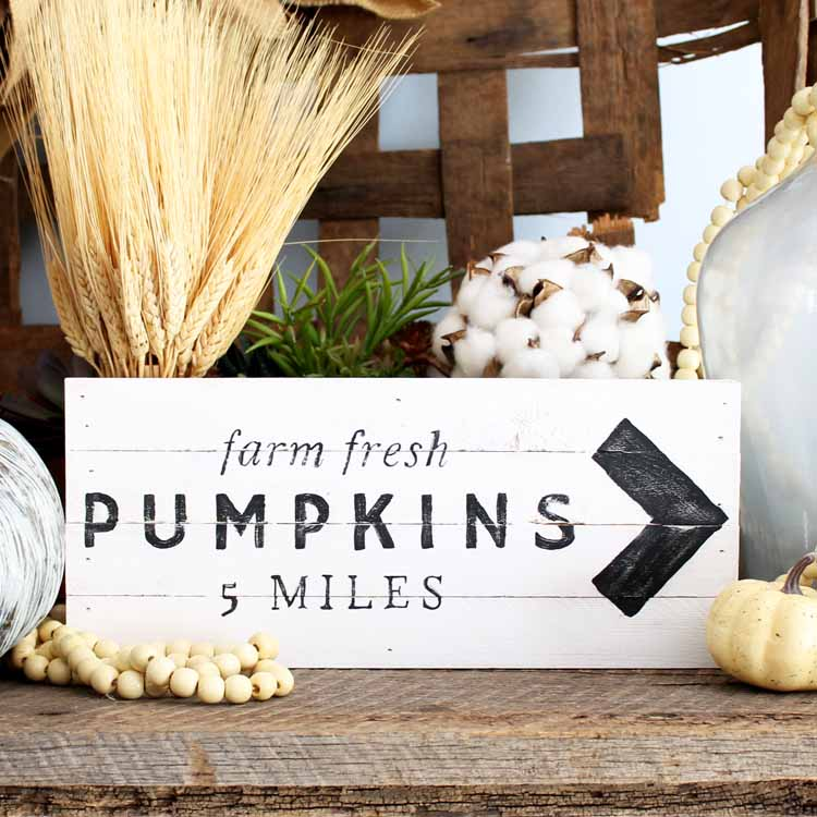 DIY Farmhouse Pumpkin Sign