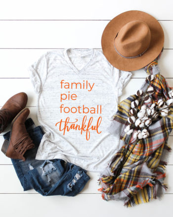 Thanksgiving Shirt - FREE SVG File by Pineapple Paper Co.