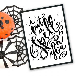 I Put a Spell on You Halloween SVG designed by Pineapple Paper Co.