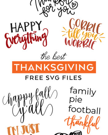 Make Thanksgiving Crafts with Free Thanksgiving SVG Cut Files