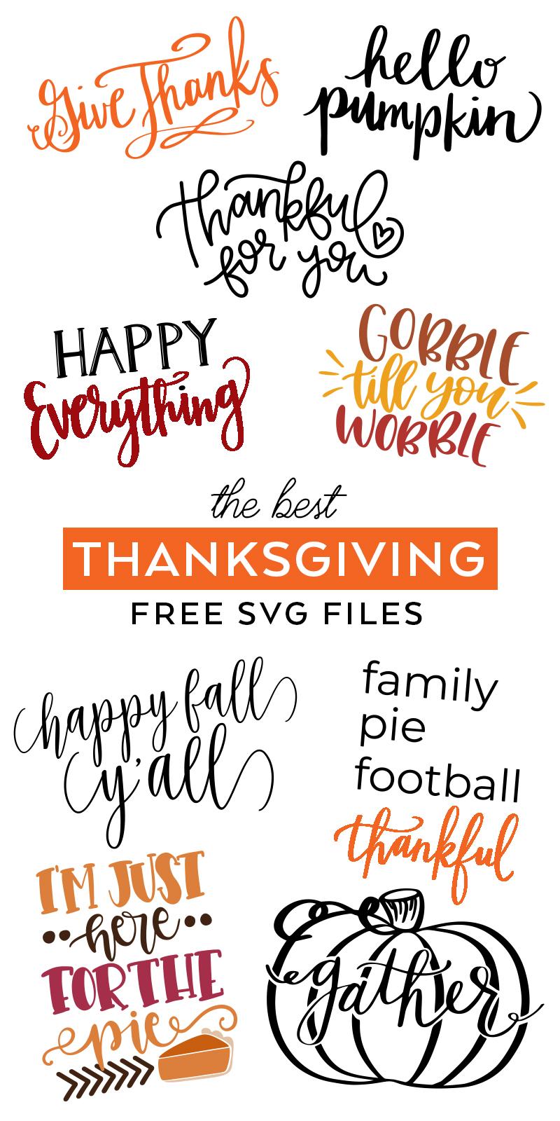 Free Thanksgiving SVG Files - SVG Cut Files - Pineapple ...