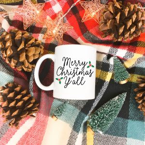 Merry Christmas Y'all FREE Christmas SVG – DIY Christmas Mug