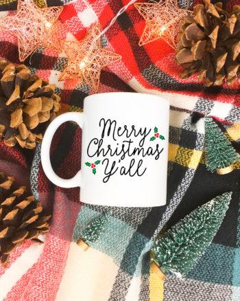 Merry Christmas Y'all FREE Christmas SVG – DIY Christmas Mug