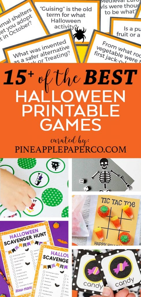 Best Printable Halloween Party Games curated by Pineapple Paper Co.
