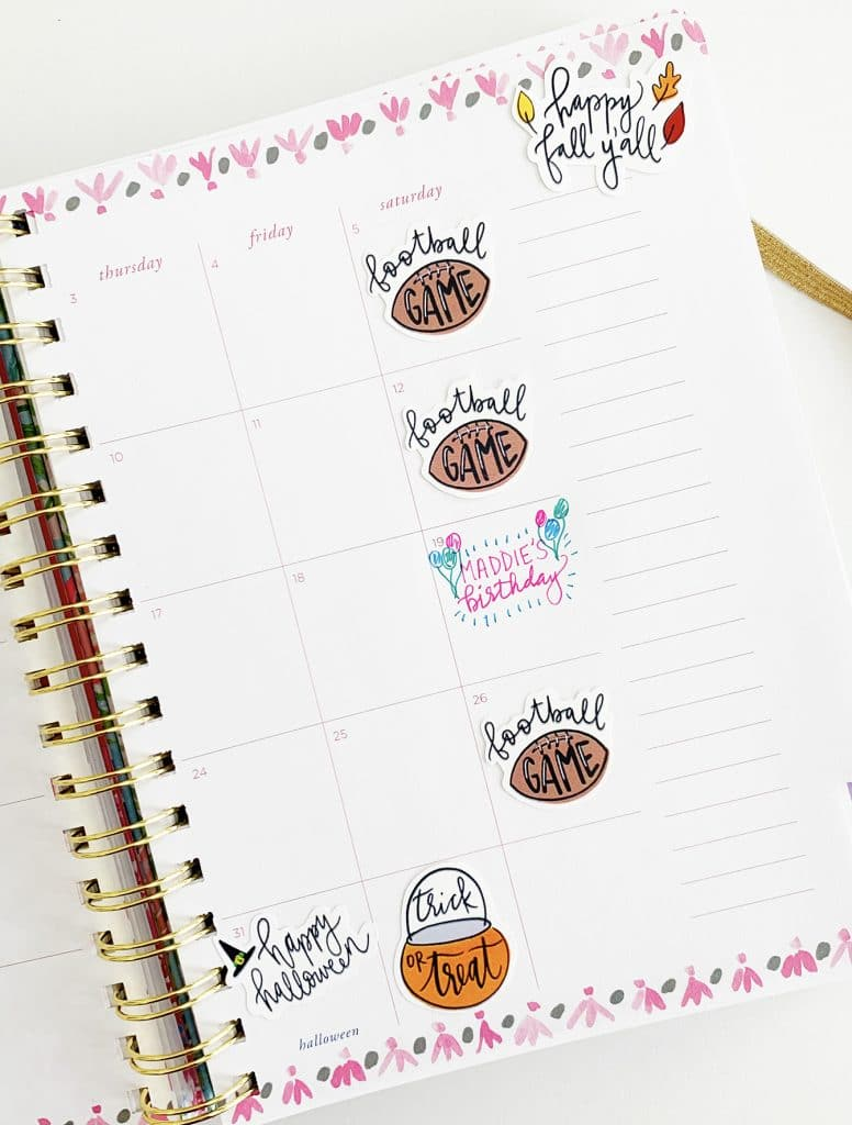 Free Planner Stickers Printable for Fall by Pineapple Paper Co.