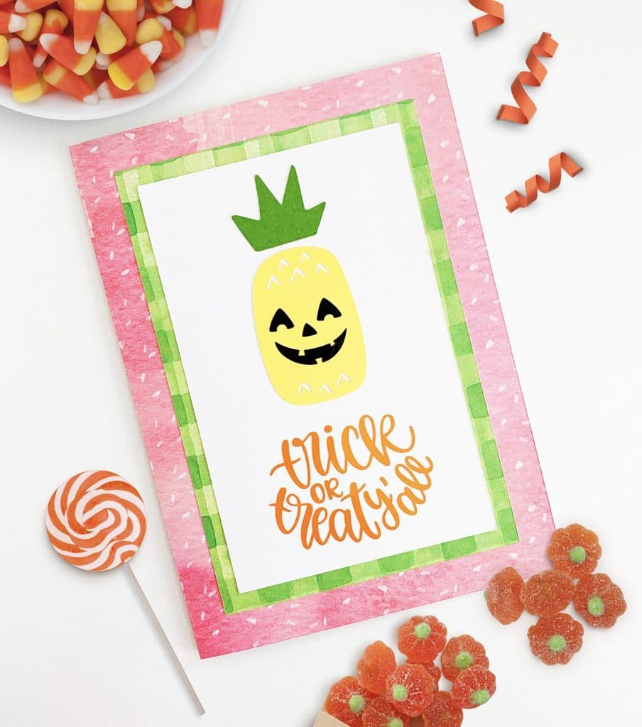 Handmade Halloween Cards with your Cricut machine by Pineapple Paper Co.