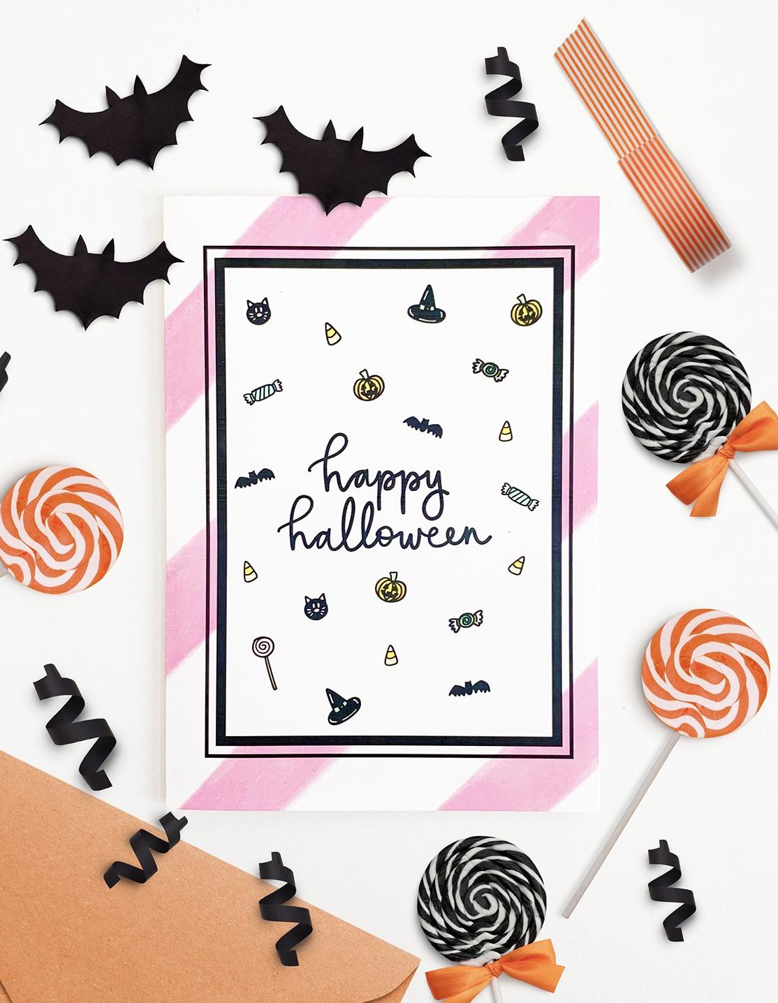 Free Printable Halloween Card Halloween Cards Pineapple Paper Co