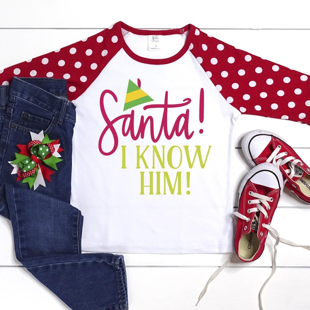 Santa I Know Him Svg Elf Moviesvg Pineapple Paper Co